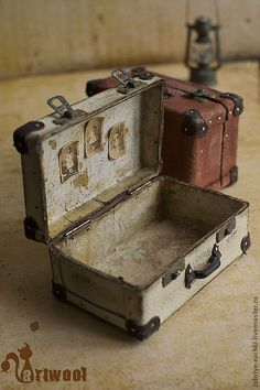 "Купить Чемодан ""Vintage"" (белый) - белый, чемодан, чемоданчик, винтажный стиль, винтаж, винтажный чемодан"