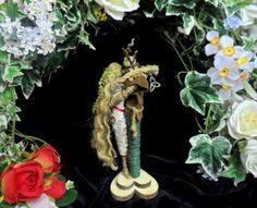 Hand crafted Pagan Handfasting Altar Piece. God & Goddess Figures.Cernunnos Beltane Love Amulet.