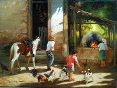 "・・・ ""Que vidinha simples, que vidinha boa É só . Mexican Art, Animal Paintings, Illustrations Posters, Decoupage, Stencils, Fine Art, Canvas, Interior, Animals"