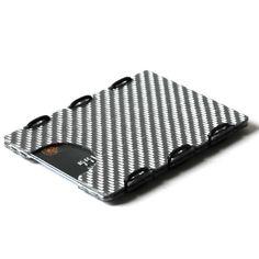 Carbonlite™ by slimTECH™ — Carbonlite™ carbon fiber Minimalist Wallet With Money Clip RFID hybrid