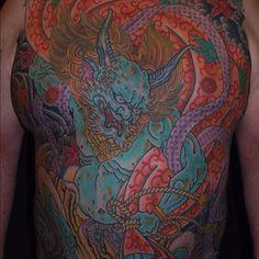 Japanese Phoenix Tattoo, Japanese Snake Tattoo, Japanese Dragon Tattoos, Japanese Tattoo Designs, Raijin Tattoo, Tengu Tattoo, Irezumi Tattoos, Japanese Mythology, Japanese Folklore