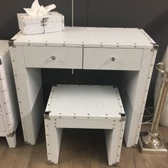 Blitz White Glitz Crystals Glittery Dressing Table And Stool Set 2 Drawer Dressing Table, Dressing Table With Stool, Mirrored Bedroom Furniture, Leather Chair With Ottoman, Childrens Rocking Chairs, Entryway Tables, Drawers, Vanity, Crystals