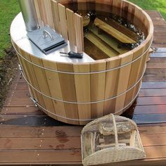wooden hottub on wood fire glamping inspiration pinterest woods hot tubs and tubs. Black Bedroom Furniture Sets. Home Design Ideas