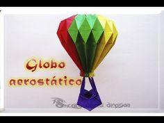Globo aerostático origami modular | hecho de papel | Air balloon - YouTube