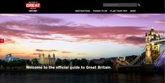 VisitBritain website homepage