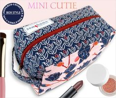 Box Style Zippered Cosmetics & Toiletries Case | Sew4Home
