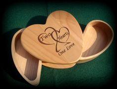 Bride & Groom Ring BoxKeepsake Box Heart by BPLaserEngraving