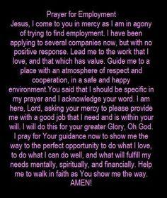 Prayers for Employment Prayer Times, Prayer Scriptures, Bible Prayers, Catholic Prayers, Faith Prayer, God Prayer, Power Of Prayer, Prayer Quotes, Spiritual Quotes