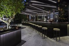 Neon lighting concept bar by Stones and Walls