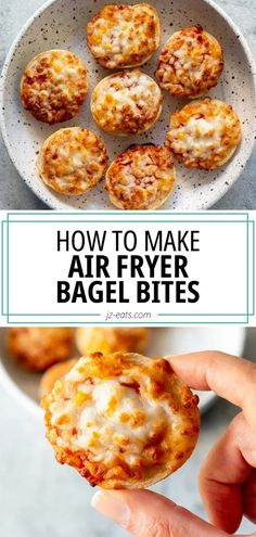 Did you know you can make Frozen Bagel Bites in the air fryer? They cook way faster and are way tastier than any other method. Healthy Appetizers, Appetizers For Party, Appetizer Recipes, Snack Recipes, Dinner Recipes, Healthy Food, Healthy Chicken Recipes, Seafood Recipes, Vegetarian Recipes
