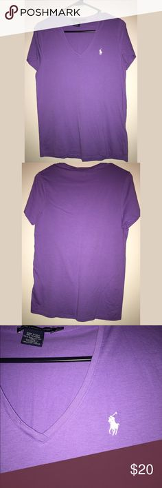 Polo RL Sport short sleeve Tee Women's polo RL Sport purple Tee. Size L. Only worn a couple times. Great condition! 👍🏾💜 Polo by Ralph Lauren Tops Tees - Short Sleeve