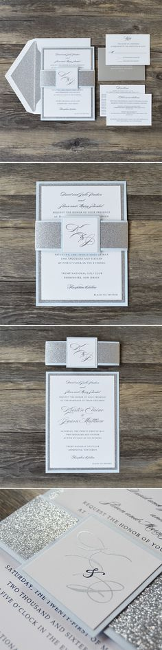 Say hello to Catherine! A 3 layer classic invitation with touches of glitter and…