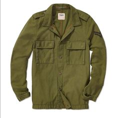 Aritzia TNA Redmond Jacket Army jacket from Aritzia by the brand TNA! Dark green colour, button detail. Size small fits like a cool oversize army jacket look! Awesome with jeans, leather leggings, or denim shorts. Aritzia Jackets & Coats Utility Jackets