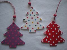 wooden xmas tree decorations - Google Search