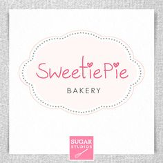 Like the pink symbol at the bottom. Can use for box sticker as a seal. Dessert Logo, Business Logo Design, Business Logos, Cupcake Logo, Bakery Logo Design, Business Articles, Professional Logo Design, Pretty Designs, Logo Branding