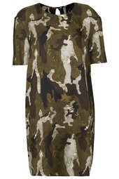 Silk Camo Tee Dress By Boutique