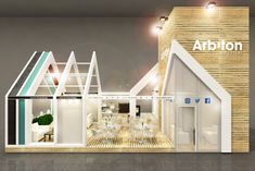 Fair Stand on Domotex Hannover 2017 on Behance Exhibition Stall, Exhibition Booth Design, Exhibition Display, Exhibit Design, Expo Stand, Kindergarten Design, Home Themes, Display Design, Tile Design