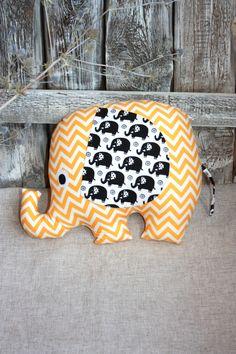 Decorative pillow elephant. Stuffed Elephant pillow, Stuffed cushion. Pillow-toy elephant. Star elephant. Stuffed elephant - pinned by pin4etsy.com