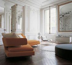 orange and white, parisian, decor.