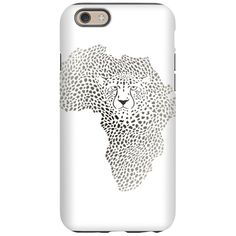 Symbol Africa in cheetah ca iPhone 6/6s Tough Case on CafePress.com