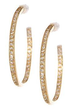 Pave CZ Hoop Earrings