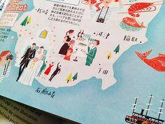 A piece from a few months ago. Izu Peninsula map for Zexy Sizuoka.