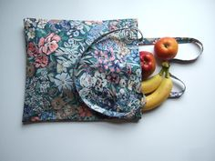Vintage floral Liberty fabric tote or book bag. Mothers' Day gift. £10.00