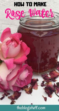 How to make rose water with dried and fresh rose petals using this easy recipe. How to make rose water with dried and fresh rose petals using this easy recipe. You can also add essential oil for extra fragrance. Uses For Rose Water, Uses Of Rose, Rose Petal Uses, Making Rose Water, Homemade Rose Water, Uses For Rose Petals, Diy Rose, Fresh Rose Petals, How To Make Rose