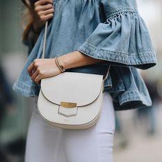 Celine Trotteur bag in white