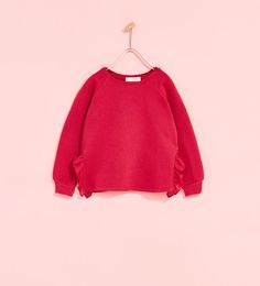 ZARA - KIDS - SWEATSHIRT WITH SIDE FRILLS