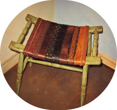 Repurposed Belts for Chair or Stool