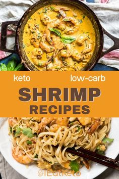 Shrimp is a great seafood to add to your diet, and fits in perfectly  with the keto diet being virtually zero carb. Check out these great Keto  Shrimp Recipes for some inspiration for your next dinner.#ieatketo #ketoshrimp