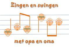 Lesidee Zingen en swingen met opa en oma Grandma And Grandpa, Second Grade, Singing, Teaching, Projects, Kids, Gift, Everything, Log Projects