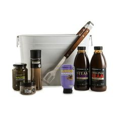 Ultimate braai hamper for the South African man Healthy Appetizers, Soups And Stews, Barware, Bbq, Xmas, The Originals, Hamper, Yummy Yummy, Hobbies