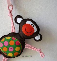Kinderwagenanhänger Affe von Ringelotte auf Etsy