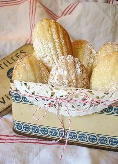 coconut madeleines | More foodie lusciousness here: http://mylusciouslife.com/photo-galleries/wining-dining-entertaining-and-celebrating/