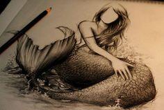 mermaid pin up tattoo | drawing pretty mermaid mermaid sketch sketch pencil