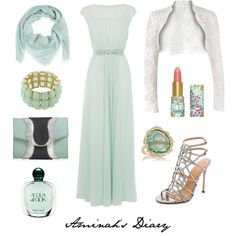 http://aminahshijabdiary.wordpress.com/ #hijab #fashion #muslimah #ootd #outfit #robe #evening #mint #dress #ootn #look #style