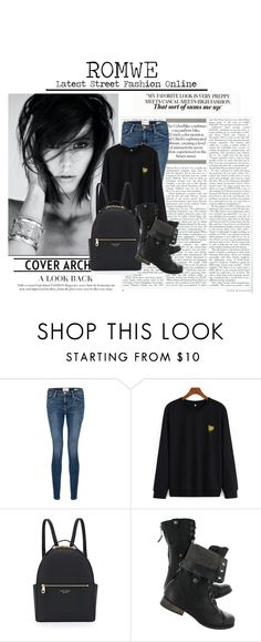 """""""ROMWE: Latest Street Fashion Online"""" by shorty1997rv ❤ liked on Polyvore featuring Frame Denim, Henri Bendel, contest and romwe"""