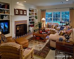 Living Room Ideas Country great room decorating idea and model home tour | decorating ideas