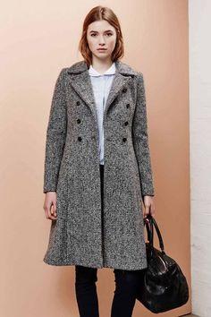 Manteau tweed femme laine
