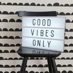 Lightbox | quote | kids | ferm living | wallpaper | black and white