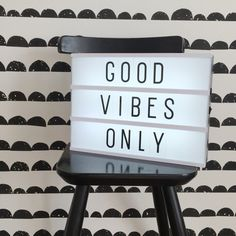 Lightbox | quote | kids | ferm living | wallpaper | black and white