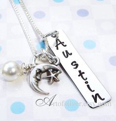 Sale Item Today  Handstamped jewelry   Name by ArtOfSilver on Etsy, $27.00  https://www.etsy.com/listing/127590970/sales-item-today-handstamped-jewelry