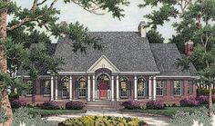Elegantly designed 3 bedroom Southern style home.  House Plan # 311033.