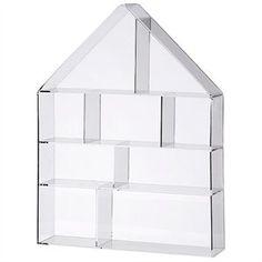 Husformet sættekasse i klar akryl