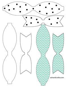 Printable Paper Bow Template | ashandcrafts.com