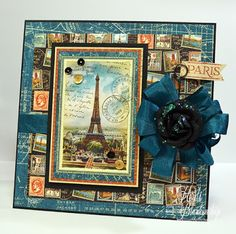 The Stamp Simply Ribbon Store - Graphic 45 City Scapes Paris Card