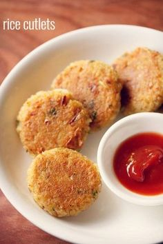 rice cutlet recipe - crisp and delicious cutlets made from cooked rice. easy and quick monsoon snack #rice #cutlets