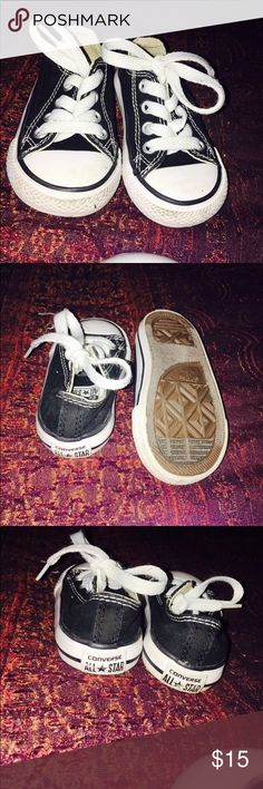 Baby's black converse shoes size 5 Size 5 baby black and white converse like new Converse Shoes Baby & Walker